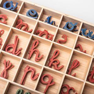 DETALLES DEL ADJUNTO Alfabeto Móvil en minúsculas Montesori detalle