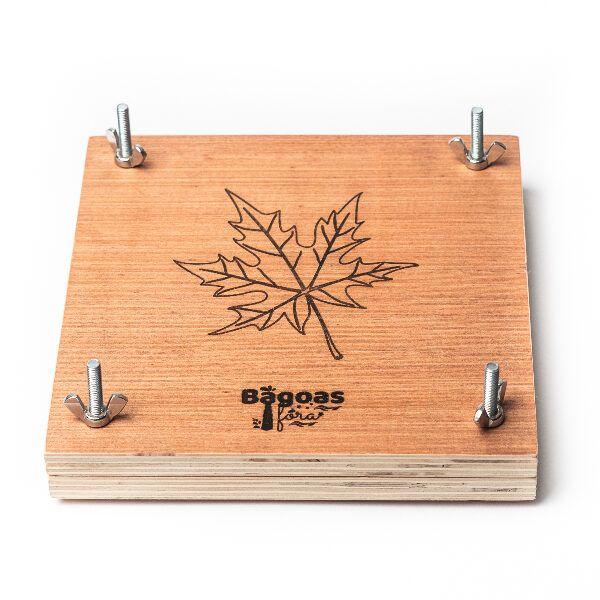 Prensa de madera para hojas