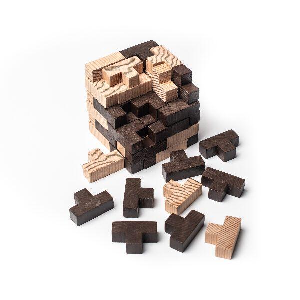 cubo rompecabezas en 3D piezas sueltas
