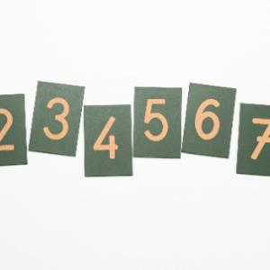 Números de Lija Montessori