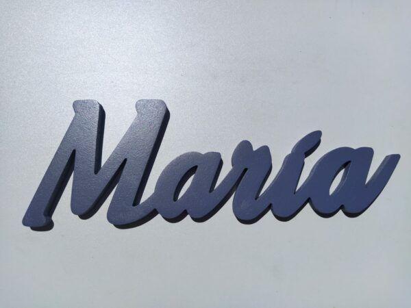 Nombres en madera María frente