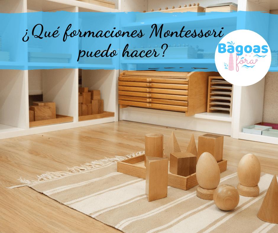 ¿Qué Formaciones Montessori puedo hacer?
