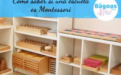 Cómo saber si una escuela es Montessori